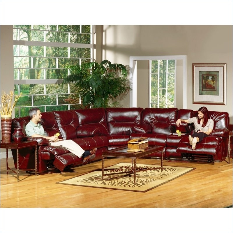 2018 Red Leather Sectional Sofas With Recliners Intended For Sofa Beds Design: Fascinating Unique Red Sectional Sofa With (View 1 of 10)