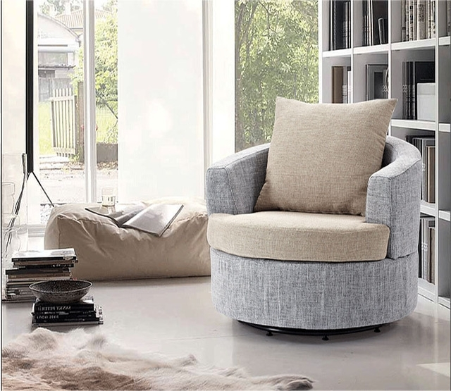 2018 Simple Fashion Fabric Armchair Small Apartment Living Room Corner For Casual Sofas And Chairs (View 6 of 10)
