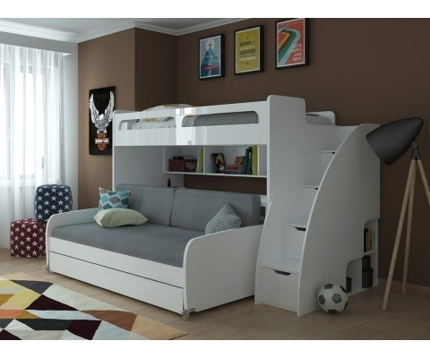 2018 Sofa Bunk Beds Within Mondo – Twin Bunk Bed With Sofa, Table And Trundle (View 1 of 10)