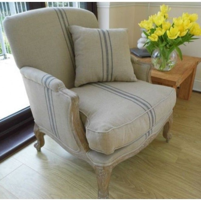 2018 Striped Sofas And Chairs Pertaining To American Oak Beaumont Stripe Grey Wash Sofa Chair Sustainable (View 2 of 10)