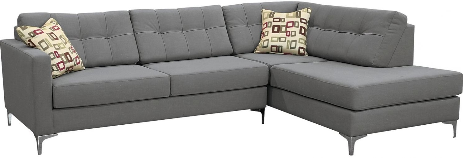 2018 The Brick Sectional Sofa Bed Ivy Polyester Right Facing Sectional Pertaining To Sectional Sofas At The Brick (View 3 of 10)