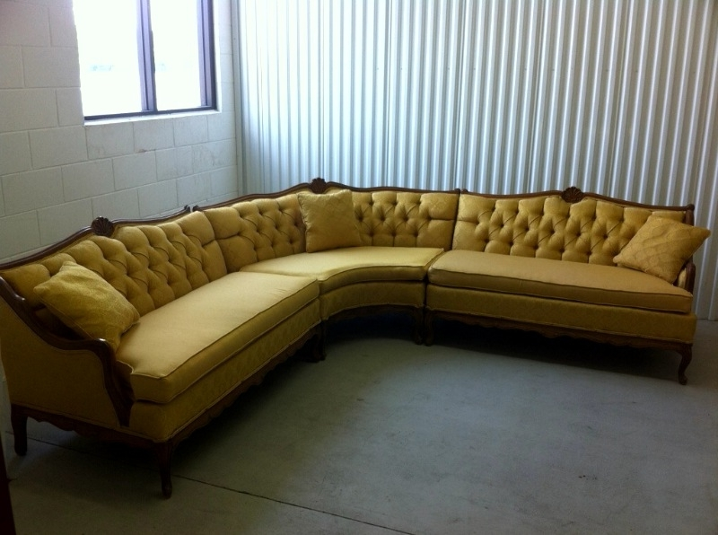 2018 Vintage Sectional Sofas Inside Sofa Beds Design: Extraordinary Ancient Retro Sectional Sofa (View 1 of 10)