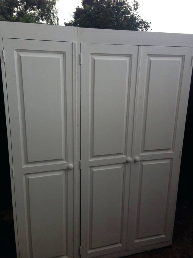 2018 Wardrobes ~ White Painted Furniture Uk White Solid Pine Bedroom Intended For Whitewash Wardrobes (View 1 of 15)
