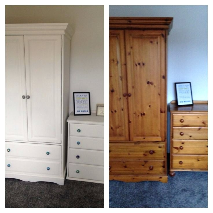2018 Wardrobes ~ White Painted Solid Wood Wardrobe Pine Wardrobe And Intended For White Painted Wardrobes (View 2 of 15)