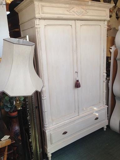 2018 White Antique Wardrobes Regarding Antique White Wardrobe – The Conservatory (View 3 of 15)