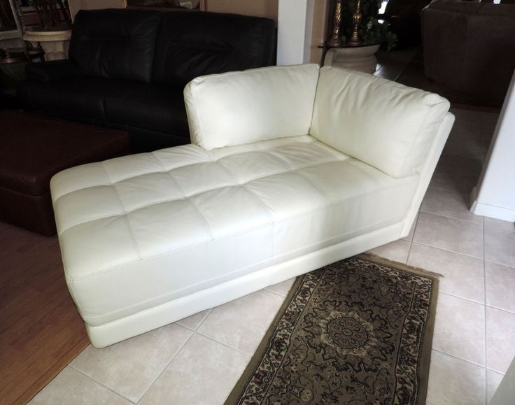 2018 White Chaise Lounges For White Leather Chaise Lounge (View 2 of 15)