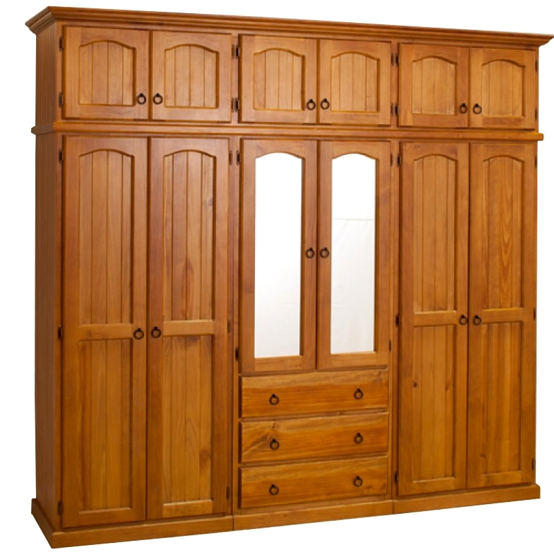 2018 Wooden Wardrobes Pertaining To Wb 101 Wooden Wardrobe With Mirror Details (View 1 of 15)