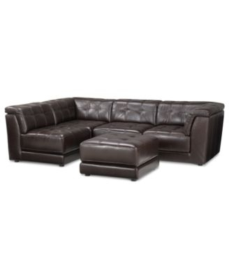 $2,899 (Add Corner Piece @ $600) Stacey Leather 5 Piece Modular Pertaining To Well Known Leather Modular Sectional Sofas (View 1 of 10)
