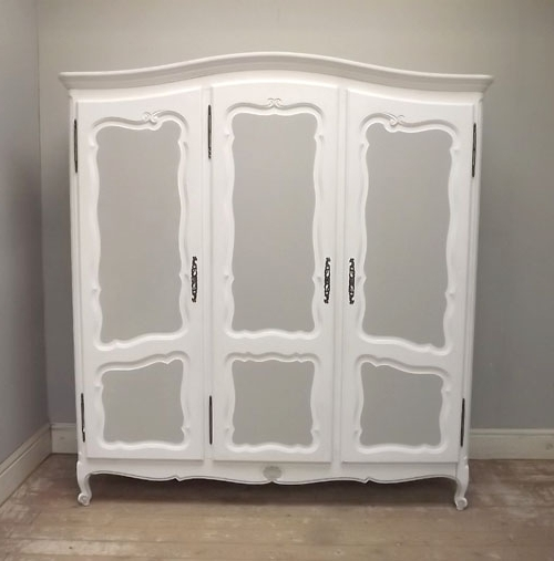 Featured Photo of 3 Door French Wardrobes
