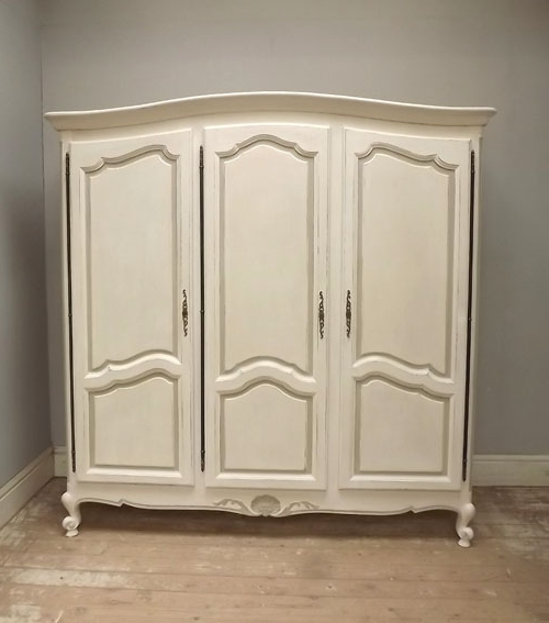 3 Door French Wardrobes Regarding Newest If3098 3 Door French Provencal Style Armoire (View 2 of 15)