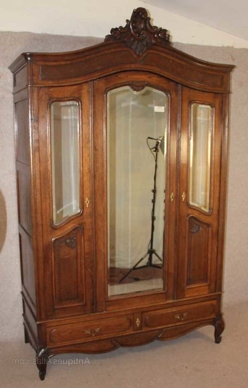 3 Door French Wardrobes Within Trendy Antiques Atlas – French Louis Xv Style Oak 3 Door Mirrored Armoire (Gallery 2 of 15)