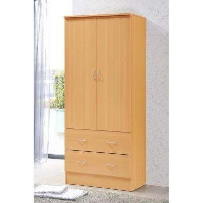 3 Door Pine Wardrobes In Best And Newest Armoires & Wardrobes – Bedroom Furniture – The Home Depot (View 3 of 15)