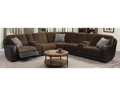 3 Piece Recliner Sectional U2013 Chocolate U2013 Sam Levitz Furniture Inside Most  Recently Released Sam Levitz