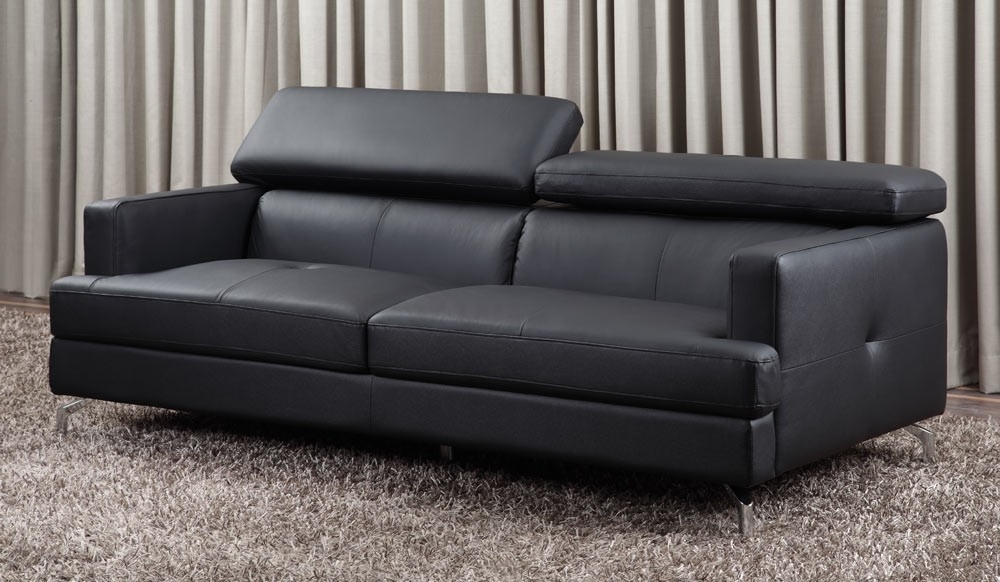 3 Seater Leather Sofas Pertaining To Most Current Renzo Small Leather Sofa (top Grain 3 Seater With Adjustable (View 4 of 10)