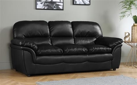 3 Seater Leather Sofas With Trendy Rochester Black Leather 3 Seater Sofa Only £399.99 (Gallery 5 of 10)