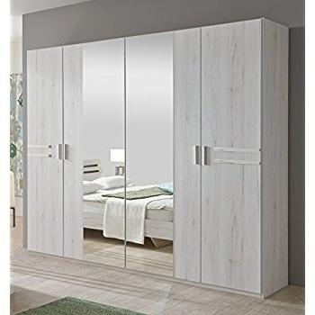 4 Door Mirrored Wardrobes Throughout 2017 New Susan German White Oak Effect 4 Door Mirror Wardrobe Bedroom (View 13 of 15)