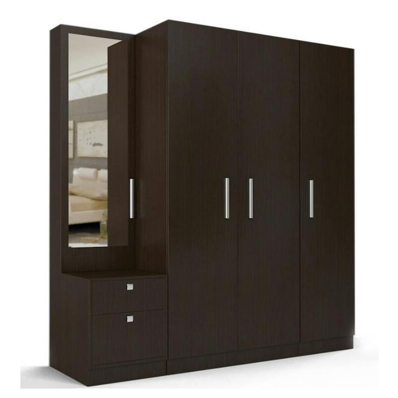 4 Door Wardrobe With 2 Drawers And Mirror Gravity Interio Regarding Fashionable Wardrobes With Mirror And Drawers (Gallery 1 of 15)