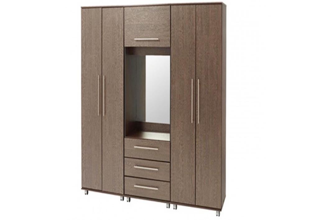 4 Door Wardrobe With 4 Drawers Made Up Of Plywood With Laminate Throughout Most Current 4 Door Wardrobes With Mirror And Drawers (Gallery 3 of 15)