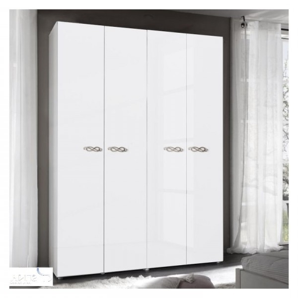 4 Door White Wardrobes With Most Popular Juliette White High Gloss 4 Door Mirrored Wardrobe (View 12 of 15)