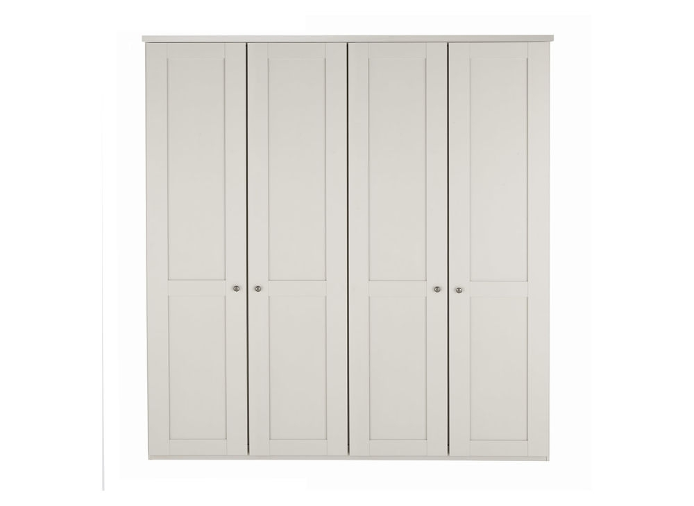 4 Door White Wardrobes With Most Recent Sloane 4 Door Wardrobe – Champagne (View 3 of 15)
