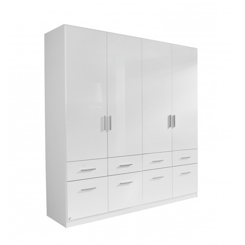 4 Door White Wardrobes Within Latest White Gloss Wardrobes On Sale With Drawers (View 5 of 15)