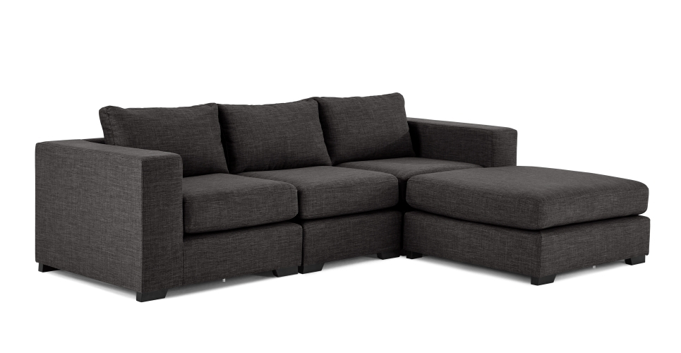 4 Seat Sofas Throughout Well Known Mortimer 4 Seat Modular Corner Sofa, Seal Grey (Gallery 5 of 10)