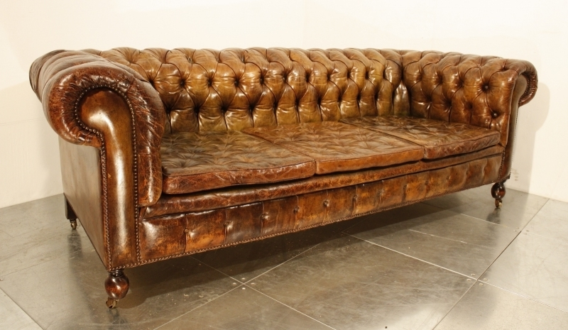 47 Park Avenue: A Vintage 1920's Leather Chesterfield Sofa! Regarding Well Liked Vintage Chesterfield Sofas (View 1 of 10)
