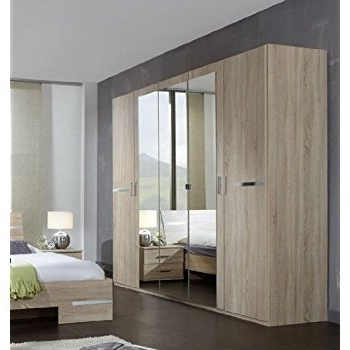 5 Door Mirrored Wardrobes In Most Popular Germanica Bavari Bedroom Furniture: 5 Door Wardrobe In Mirrored (View 1 of 15)