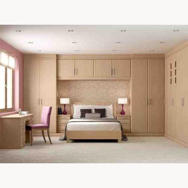 5 Door Wardrobes Bedroom Furniture Throughout Favorite 5 Doors Wooden Wardrobe Hpd441 – Fitted Wardrobes – Al Habib Panel (View 3 of 15)
