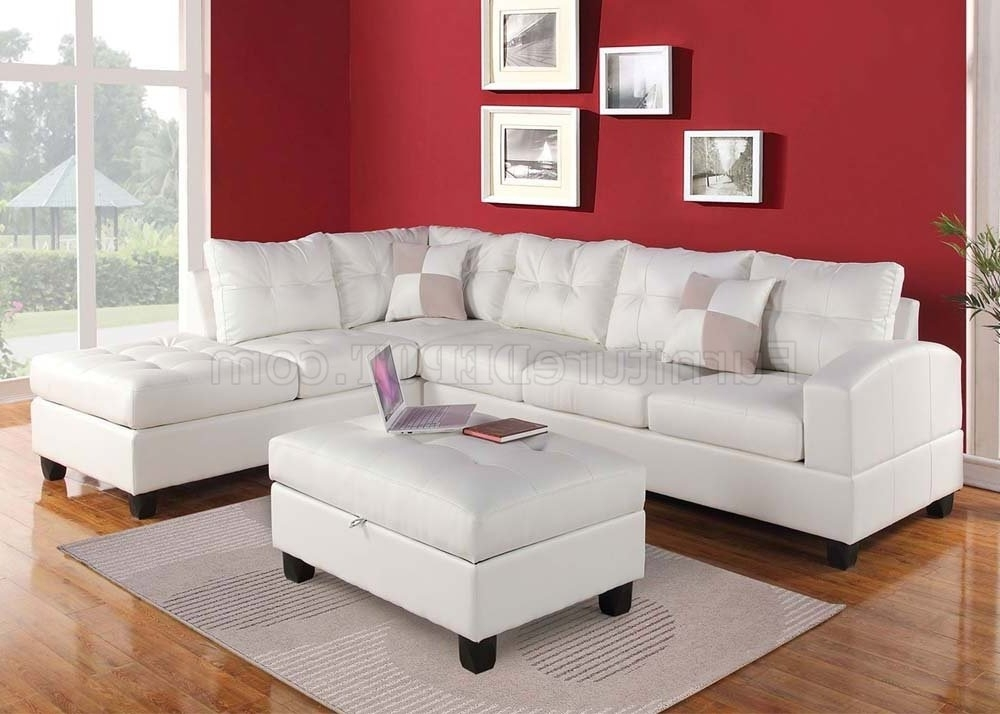 51175 Kiva Sectional Sofa In White Bonded Leatheracme Throughout Current Red Sectional Sofas With Ottoman (View 10 of 10)