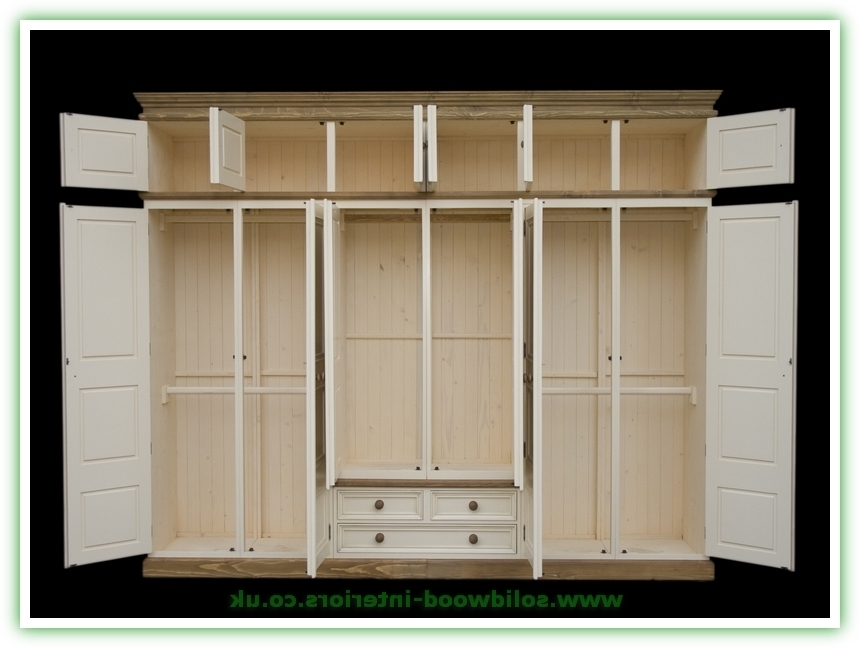 6 Doors Wardrobes Within Newest Solid Wood Interiors > Solid Pine Wardrobe Triple 6 Doors And (View 2 of 15)