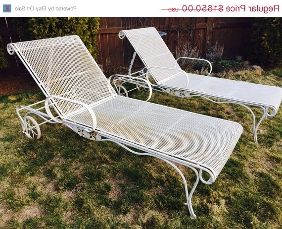 [%60% Off Easter Sale Vintage Wrought Iron Salterini Woodard Mesh Intended For Latest Vintage Outdoor Chaise Lounge Chairs|Vintage Outdoor Chaise Lounge Chairs Intended For Famous 60% Off Easter Sale Vintage Wrought Iron Salterini Woodard Mesh|Famous Vintage Outdoor Chaise Lounge Chairs Throughout 60% Off Easter Sale Vintage Wrought Iron Salterini Woodard Mesh|2018 60% Off Easter Sale Vintage Wrought Iron Salterini Woodard Mesh With Regard To Vintage Outdoor Chaise Lounge Chairs%] (View 1 of 15)