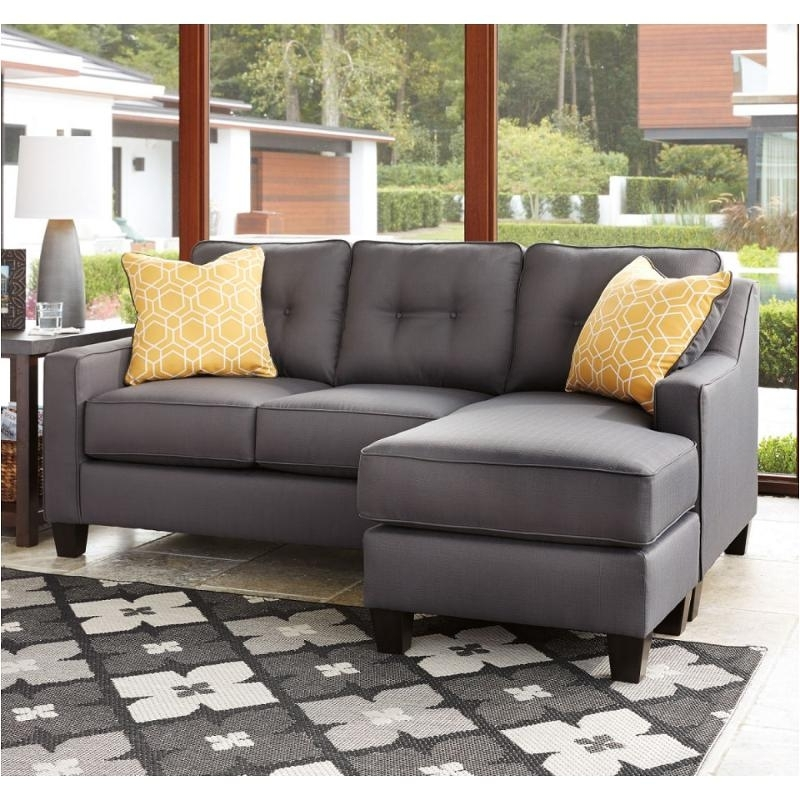 6870218 Ashley Furniture Aldie Nuvella Sofa Chaise Gray Intended For Famous Ashley Furniture Chaise Sofas (View 2 of 15)