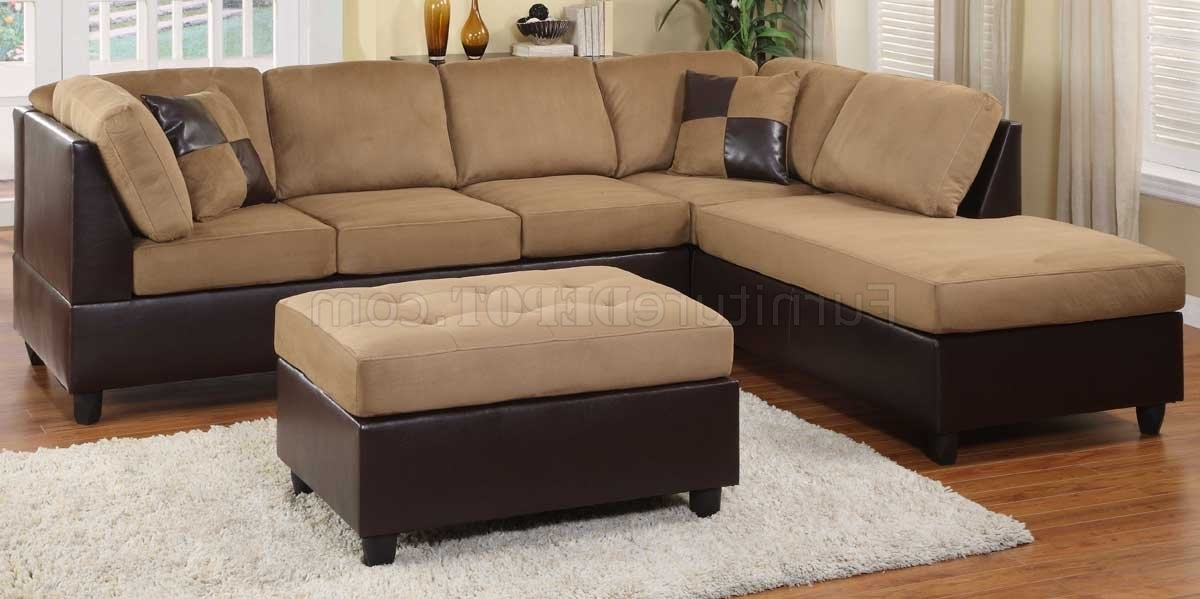 9909Br Comfort Sectional Sofa In Light Brownhomelegance Inside Famous Sectional Sofas At Bangalore (View 2 of 10)