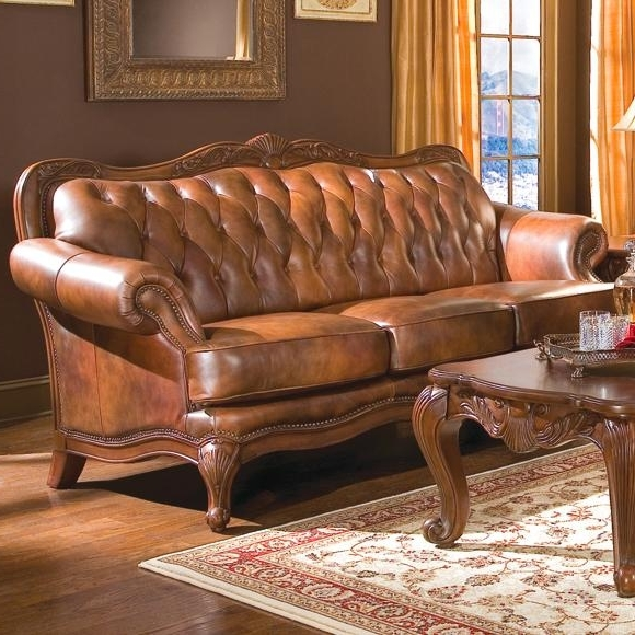 A Plus Home Furnishings – Victoria Classic Rolled Arm Sofa In Regarding Preferred Victorian Leather Sofas (View 2 of 10)