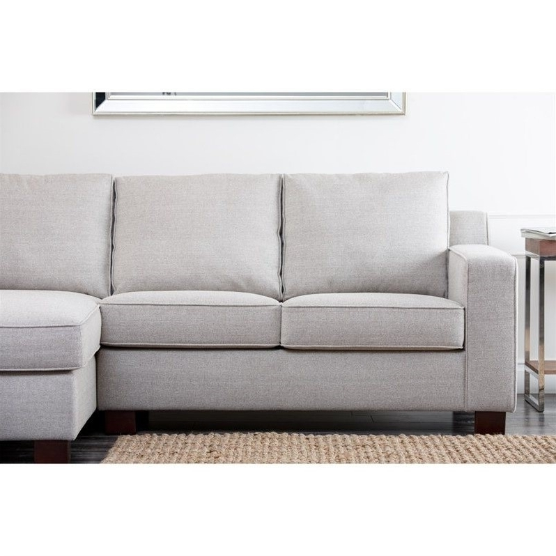 Abbyson Living Regina Fabric Sectional Sofa In Gray – Rl 1321 Gry Inside Popular Regina Sectional Sofas (View 3 of 10)