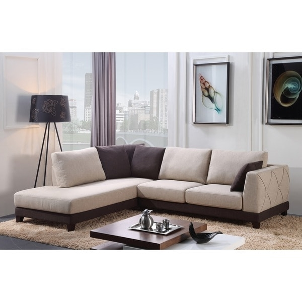 Abbyson 'verona' Fabric Sectional Sofa – Free Shipping Today With Trendy Abbyson Sectional Sofas (View 3 of 10)