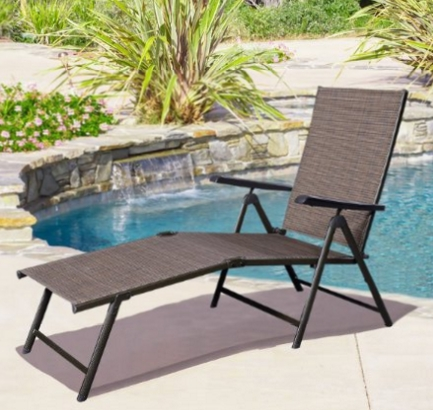 Adjustable Pool Chaise Lounge Chair Recliners Pertaining To Famous Giantex Adjustable Pool Chaise Lounge Chair Recliner Outdoor Patio (View 2 of 15)