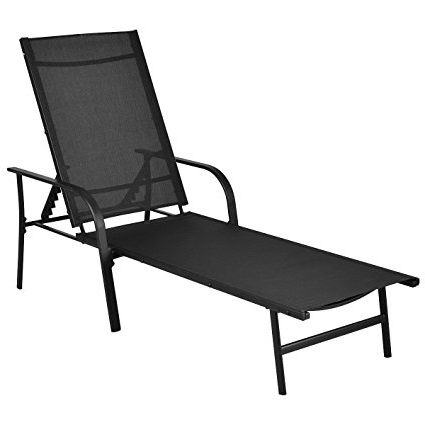 Adjustable Pool Chaise Lounge Chair Recliners Regarding Best And Newest Amazon : Giantex Pool Chaise Lounge Chair Recliner Patio (View 4 of 15)