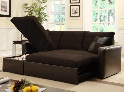 Adjustable Sectional Sofa Bed With Storage Chase From Pertaining To Widely Used Sectional Sofas That Turn Into Beds (View 3 of 10)