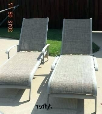Adorable Sling Chaise Lounge Chairs Appealing Patio Furniture In Well Liked Chaise Lounge Sling Chairs (View 2 of 15)