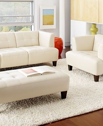 Alessia Leather Sofa Living Room Furniture Sets & Pieces – Couches Inside Most Current Macys Leather Sofas (View 2 of 10)