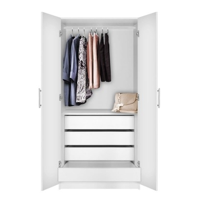 Alta Wardrobe Closet – 2 Doors, 4 Interior Drawers (View 7 of 15)