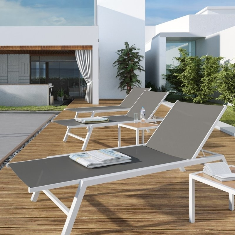 Aluminum Chaise Lounges In Recent Urbanmod Outdoor Chaise Lounge & Reviews (View 6 of 15)