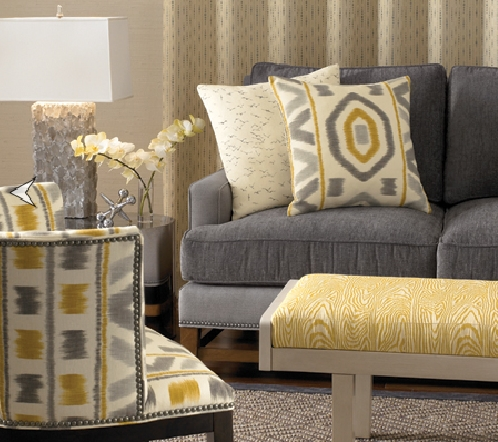 Amazing Of Gray And Yellow Accent Chair I Is For Ikat Ibb At Home Regarding Well Known Yellow Sofa Chairs (View 5 of 10)