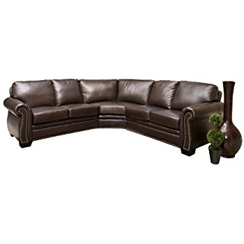 Amazon: Abbyson Berkshire Italian Leather Sectional Sofa: Home Pertaining To Most Popular Abbyson Sectional Sofas (View 6 of 10)
