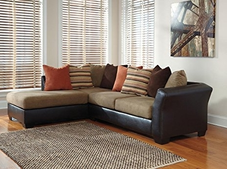 Amazon: Ashley Armant 20202 17 66 Sectional Sofa With Right Regarding Well Known Ashley Furniture Chaise Sofas (Gallery 15 of 15)