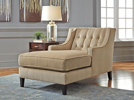 Amazon: Ashley Lochian Chenille Chaise Lounge In Bisque With Regard To Famous Ashley Chaise Lounges (View 2 of 15)