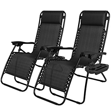 Amazon : Best Choice Products Zero Gravity Chairs Case Of (2 Intended For Most Current Zero Gravity Chaise Lounge Chairs (View 1 of 15)