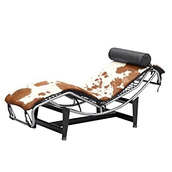 Amazon: Brown And White Pony Lc4 – Le Corbusier Chaise Lounge With Regard To Well Liked Brown Chaise Lounge Chair By Le Corbusier (View 1 of 15)